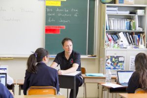 コロンビアインターナショナルスクール 学校説明会 高校課程 フレミング先生